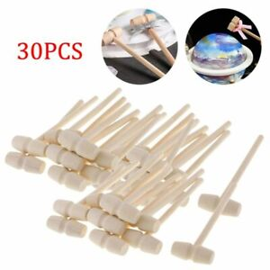 30Pc Wooden Hammers for Chocolate Mini Breakable Heart Hammer Mallet  Smash-able