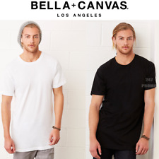 Bella Canvas Men's Long Body Urban Casual T Shirt L Black
