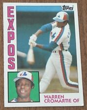 Warren Cromartie, Expos,  1984 #287 Topps Baseball Card, GOOD CONDITION
