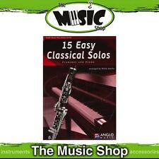 New 15 Easy Classical Solos for Clarinet Music Book & CD