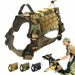 Sirius Survival Alpha1 Tactical Dog Vest, Adjustable Military Style Dog Harness