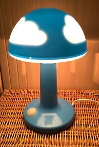 IKEA Skojig Blue Cloud mushroom Bedside Children's Lamp VTG Night light