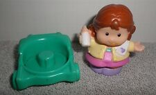 Fisher Price Little People Girl and Green Wheel Chair
