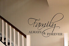 Family Always and forever Wall Art sticker home lounge living room hallway Porch