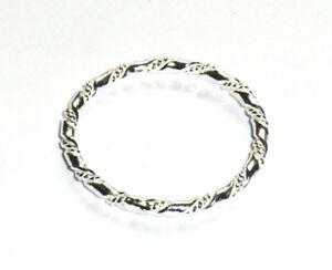 schmaler Vorsteckring Kordelmotiv Sterling Silber Ring Gr 48-62 alle Größen Neu