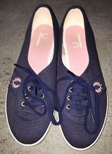 Fred Perry size US 9 navy blue canvas sneakers