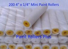 "200 Mohair Mini Paint Rollers 4"" x 1/4""  SOLVENT RESISTANT"