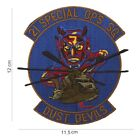 US-Army-Aufnäher  21 Special OPS SQ Dust Devils     ca  12x11,5 cm
