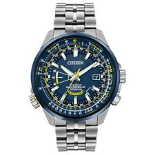 NEW CITIZEN ECO-DRIVE MEN'S WATCH BLUE ANGELS WORLD AT ALL TITANIUM CB0147-59L