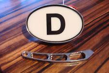 D - Schild beleuchtet, für alle  Oldtimer wie VW , Opel , Käfer ,  u.s.w.
