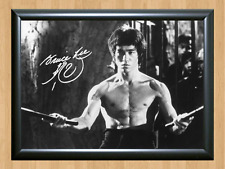 Bruce Lee Autographed Signed A4 Print Poster Photo Picture Martial Art Jeet Kune