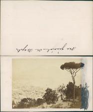 Italie, vue générale de Naples Vintage CDV albumen carte de visite CDV, tira