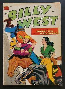 Billy West #5 - Golden Age Western (Feb.1950, Standard Comics) GD