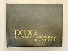 Dodge Car & Truck Data Book & Car Selector, Vintage Automobile Memorabilia