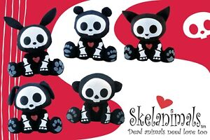 "Skelanimals Classic 10"" Plush - New Old stock with tags. Still in bag"