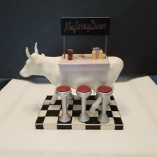 "Cow Parade-MOO JERSEY DINER"" Mini Cow Figurine-with original box"