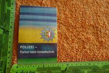Alter Aufkleber POLIZEI - Partner beim Umweltschutz