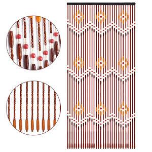 Natural Wooden Bead Door Curtain 31 String Fly Screen Bath Bedroom Porch Divider