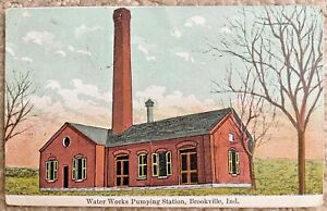 Postcard Water Works Pumping Station in Brookville, Indiana~706