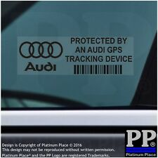 5 x AUDI GPS Tracking Device Security BLACK Stickers-A1 A2 A3,Car Alarm Tracker