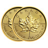 Lot of 2 - 2018 $5 Gold Canadian Maple Leaf .9999 1/10 oz Brilliant Uncirculated