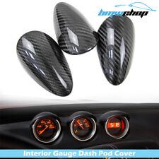 Carbon For Nissan 370Z Z34 2D Front Gauge Pod Speed Cover Trim 3 Pcs 17 18