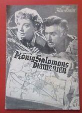 König Salomons Diamanten 1959 Film Kurier IFK Nr.1218  Deborah Kerr
