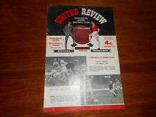MANCHESTER UNITED  v  NOTTINGHAM FOREST  1959/60  ~  MARCH 19th  ***FREE POST***