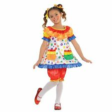 Girls Clown Carnival Coco Rainbow Circus Book Day Fancy Dress Costume 4-6 Years