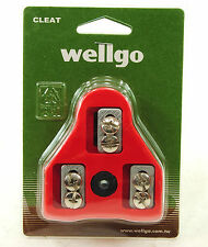 WELLGO LOOK DELTA RED 9 Degrees Float Road Bike Pedal Cleats