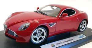 Welly1/18 Scale Model Car WE22490RM - Alfa 8C Competizione
