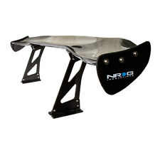 "NEW NRG CARBON FIBER GT STYLE 69"" RACING REAR TRUNK SPOILER / WING w/ NRG LOGO"