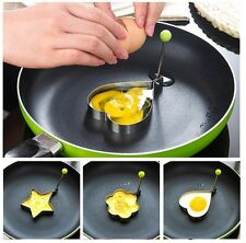 Egg Mold Pancake Mould Ring Fried Cooking Shaper Kitchen Tool 3X Stainless Steel