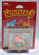 Vintage 1982 TOMY Wind Up Toy MINIMALS Tiny Pink Elephant Teeny Toys Charm MOC