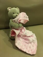 Carters Tan Bear Pink Silky Blanket Baby Security Child of Mine