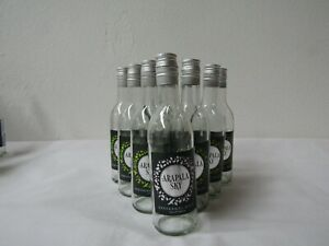 10 X Empty clear Small Wine Bottles  Approx 187ml  Home Brew/upcycle (1)