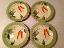 Set 4 Los Angeles Pottery Salad Plates Laurie Gates Design Peppers