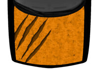 Claw Marks Rip Bright Orange Distressed Truck Hood Wrap Vinyl Car Graphic Decal