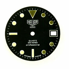 Dial For Parts Or Repairs Heuer 1000 Series Professional 200M Black