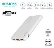 ROMOSS Powerbank 10000mAh Externer Zusatz-Akku 2*USB Mini 2A Ladegerät Für Handy