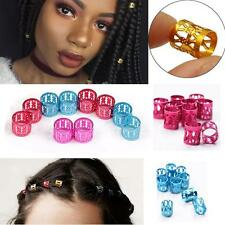 30Pcs 8MM Dreadlock Beads Adjustable Hair Braid Rings Alloy  Ornaments Cuff Clip