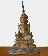 A superb antique gilt-bronze figure of Buddha from Southeast Asia