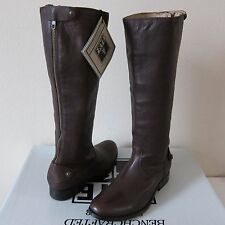 New Frye Melissa Button Back Zip Leather Knee High Boots $388