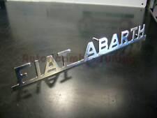"""Scritta """" FIAT ABARTH """" in Metallo Cromato per FIAT 500 F L R  126 epoca"""