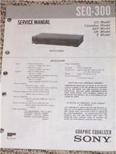 Sony SEQ-300/401 Graphic Equalizer Service Manual