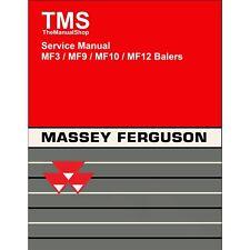 Massey Ferguson MF3 / MF9 / MF10 / MF12 Balers Service Repair Manual 3 9 10 12