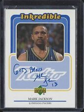"""MARK JACKSON 1999 UPPER DECK UD RETRO INKREDIBLE PACERS ON CARD AUTO """"GOD BLESS"""""""