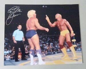 010509 Ric Flair Signed 16x20 WWE Photo AUTO Autograph w/ Hulk Hogan LEAF COA