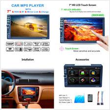 Car 7'' HD 1080P Bluetooth FM/AM/RDS Radio Stereo MP3 MP5 Player USB/TF Card/AUX