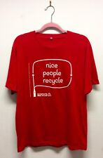 Nice People Recycle Red Coca-Cola T-shirt L
